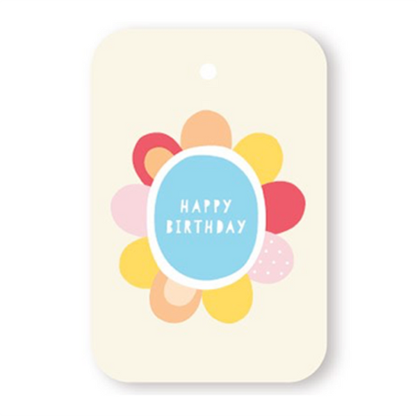 Elly Oak Tag Birthday Flower