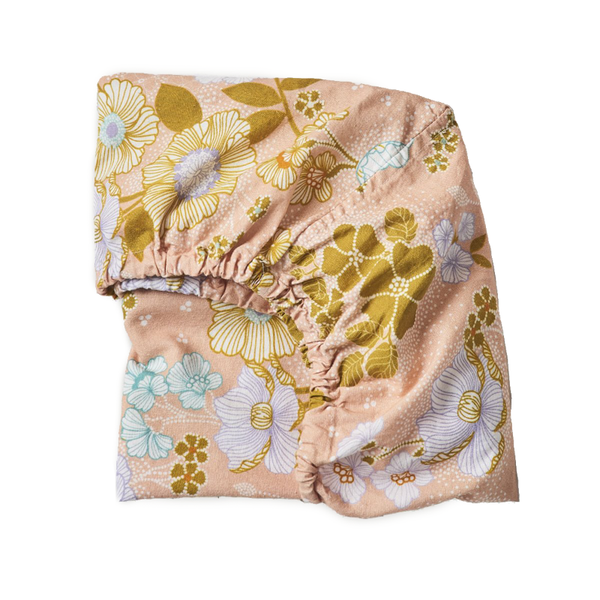 Banabae Fitted Bassinet Sheet/Change Mat - Peach Blossom