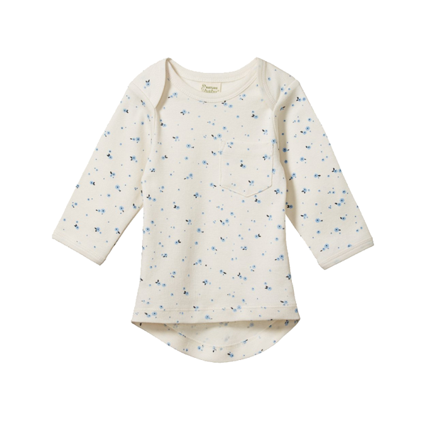 Nature Baby LS Pocket Tee - Daisy Print