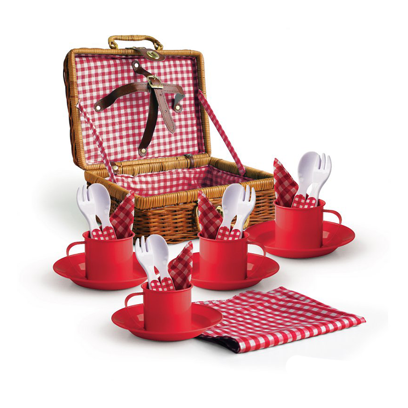 Red Enamel Picnic Set