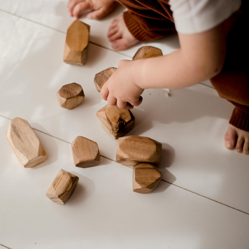 Q Toys Natural Wooden Gem