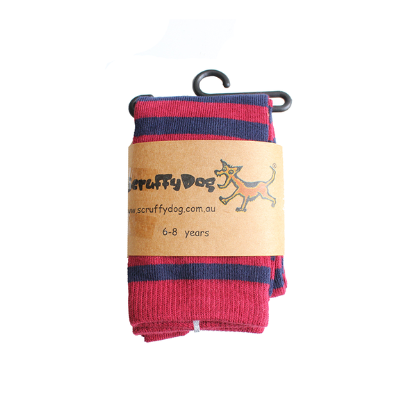 Scruffy Dog Socks - Rouge/Navy