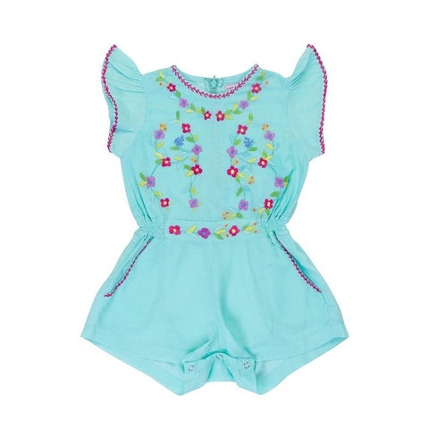 Magnolia Sunsuit - Sea Glass