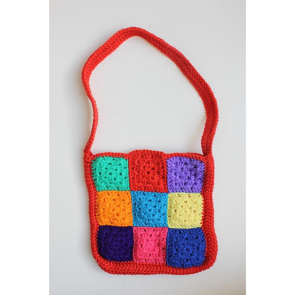 Patchwork Bag - Red