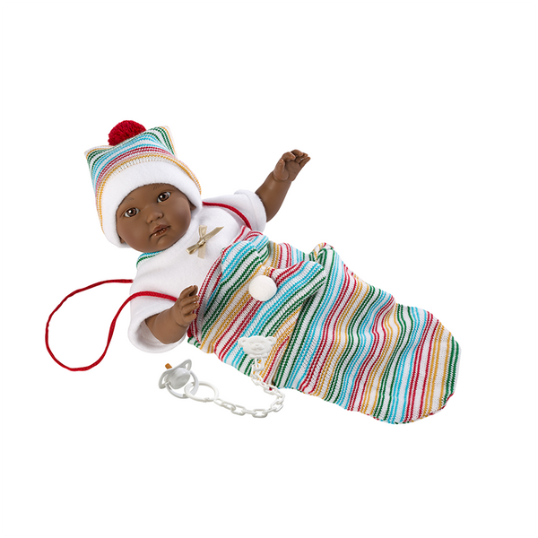 Llorens Doll with Stripe Blanket
