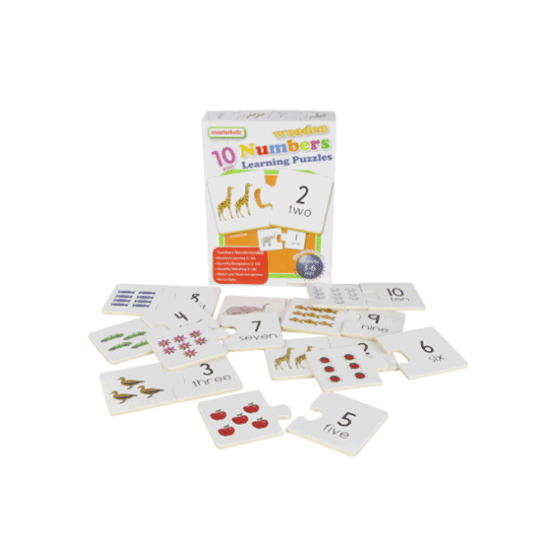 Masterkidz Wooden Learning Puzzles - Numbers