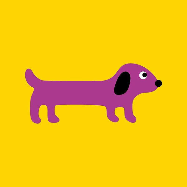 Scoops Card - Sausage Dog Yellow