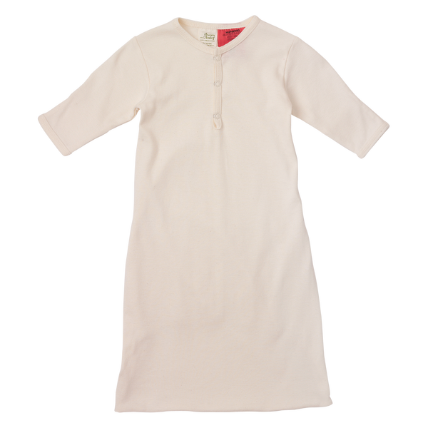 Naturebaby Cotton Sleeping Gown - Natural