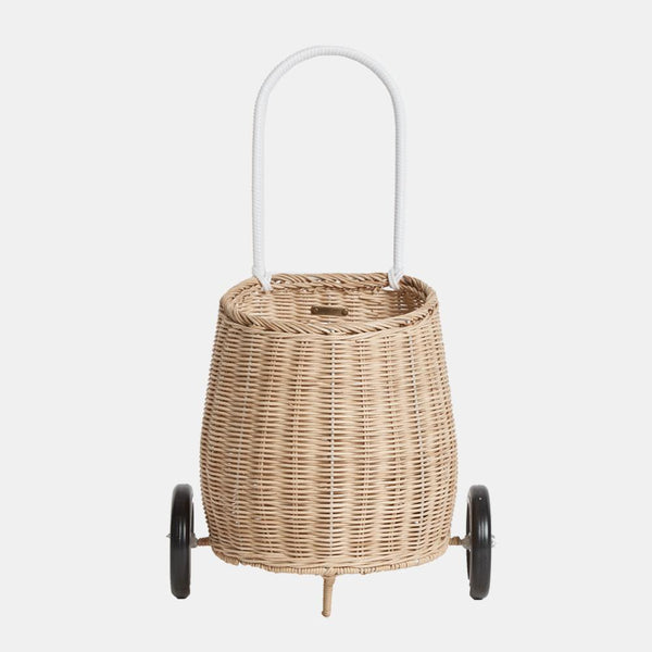 Olli Ella Luggy Basket - Straw in Shorties kids store Sydney