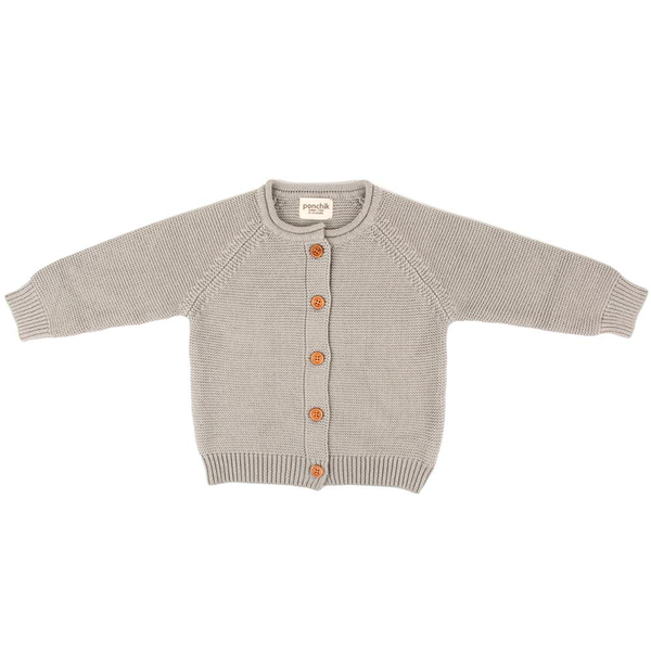 Ponchik Cotton Knit Cardigan - Pebble