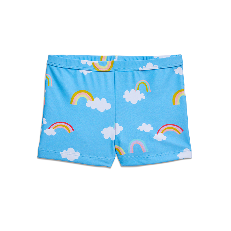 Yellow Jungle Splash Shorts - Magic Rainbow