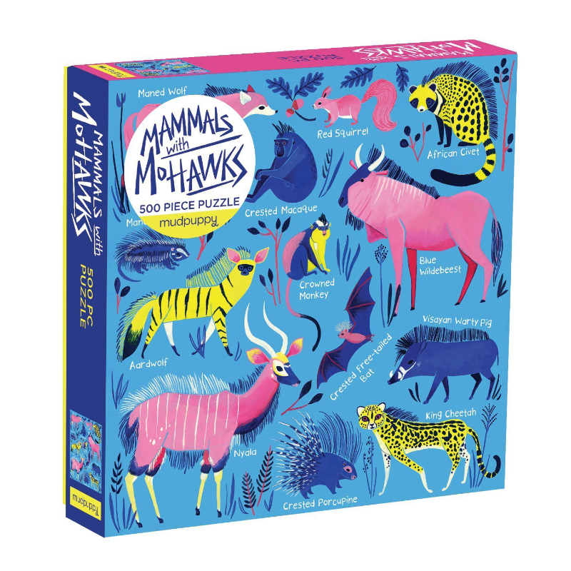 Mudpuppy 500PC Puzzle - Mammals With Mohawks