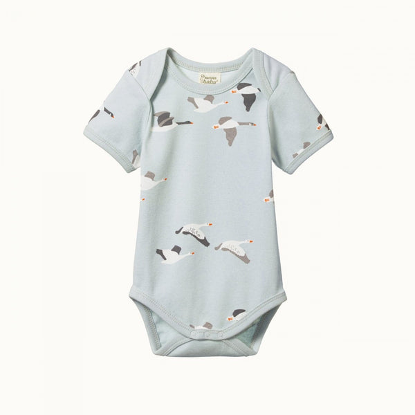 Nature Baby Short Sleeve Bodysuit - Geese