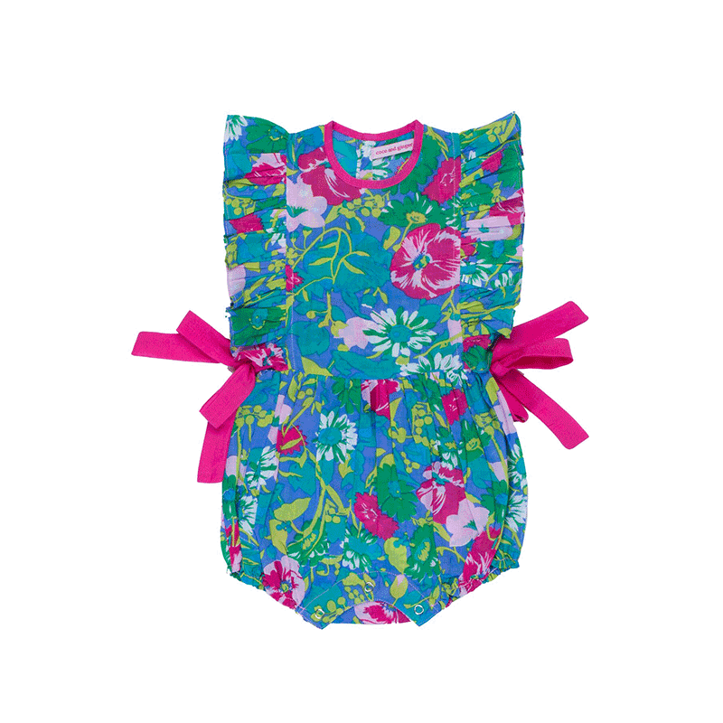Coco & Ginger Honore Sunsuit - Sea Anemone