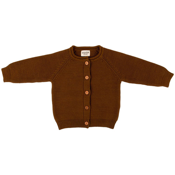 Ponchik Cotton Knit Cardigan - Maple Syrup