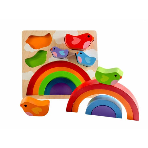 Bird & Rainbow Wood Puzzle