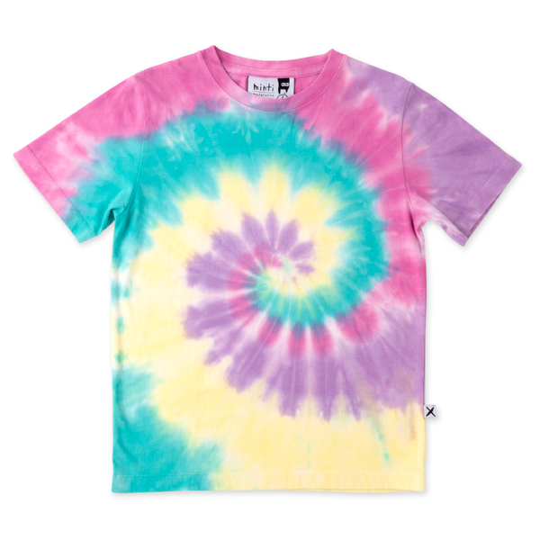 Minti Swirly Tee - Raspberry/Teal/Lemon