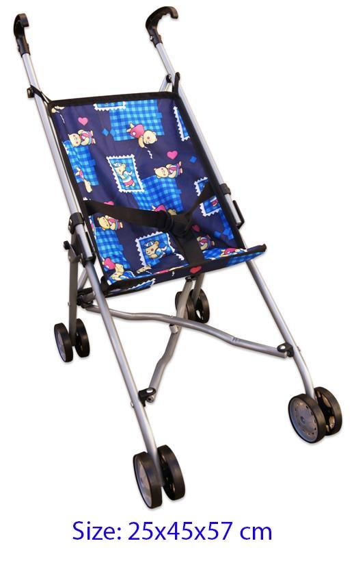 Doll Stroller - Blue Bear