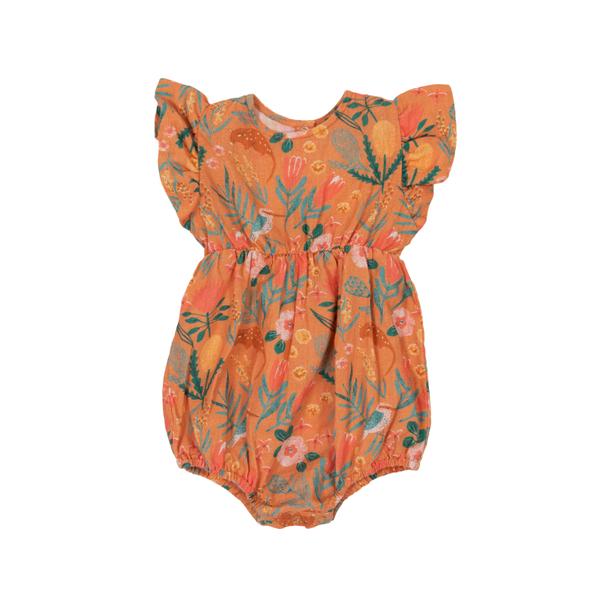 Goldie & Ace Lani Romper - Native Garden Terracotta