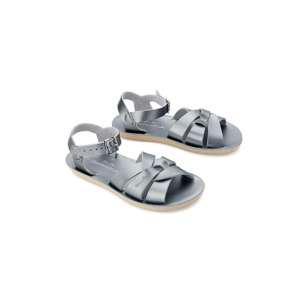 Saltwater Sun-San Swimmer Sandals - Pewter