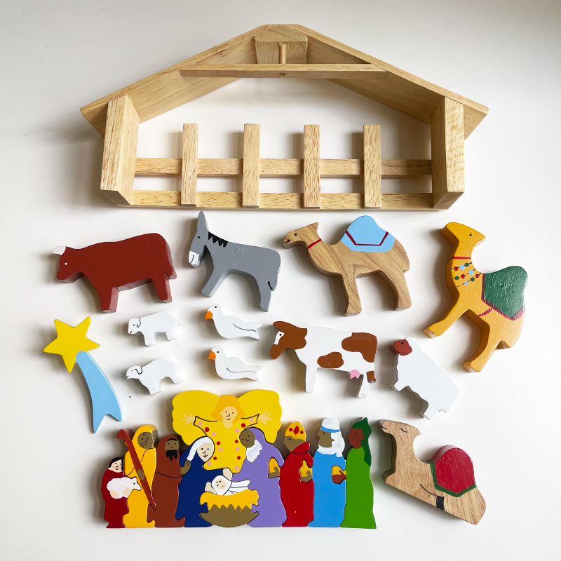 Nativity Playset And Puzzle
