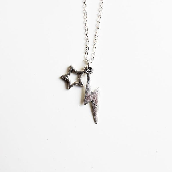 Shorties Bling Necklace - Lightning