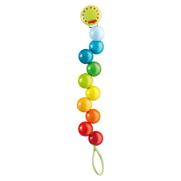 Haba Pacifier Holder - Rainbow Pearls