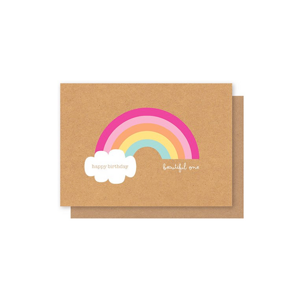 Elly Oak Card - Rainbow w/ Cloud