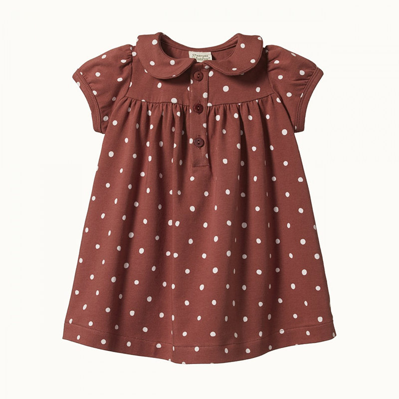 Nature Baby Jeanne Dress - Dottie Terracotta