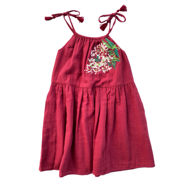 Bella & Lace Noel Dress Embroidery - Clause