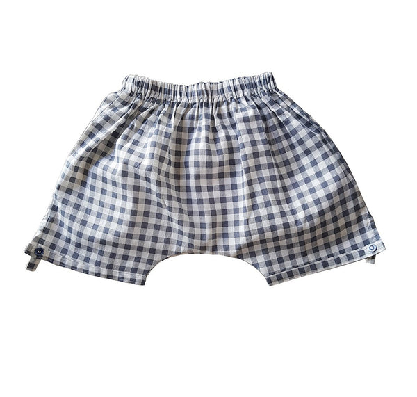 Little Allannah May Shorts - Grey Gingham