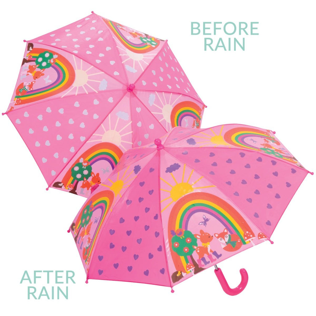 Colour Change Umbrella - Woodland Animals