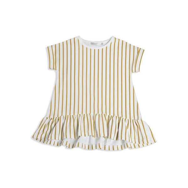 Mad About Mini Stripe Tee Frill Dress