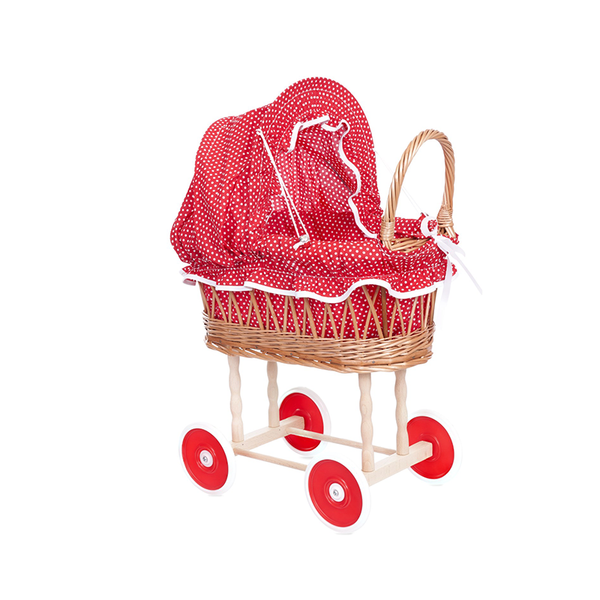 Egmont Wicker Dolls Pram -Large