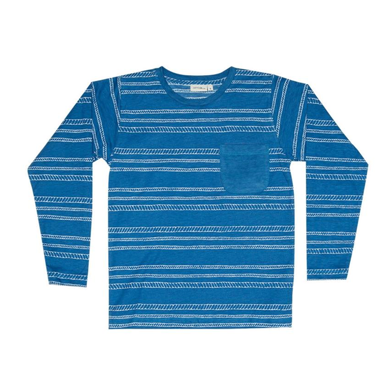 Zuttion L/S Round Neck T - Navy Rope Stripe