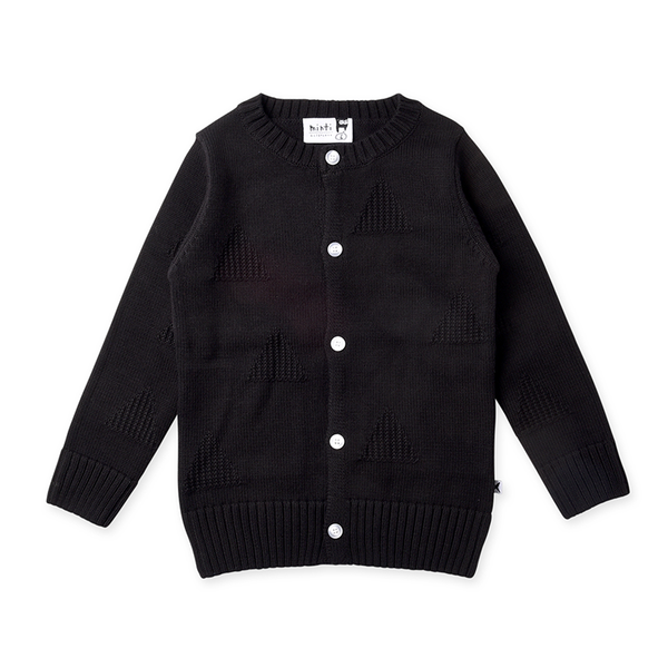 Minti Triangles Knit Cardy - Black