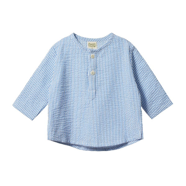 Nature Baby Caravan Shirt Seersucker - Blue Stripe