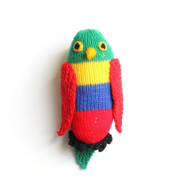 Handknitted Rainbow Lorikeet