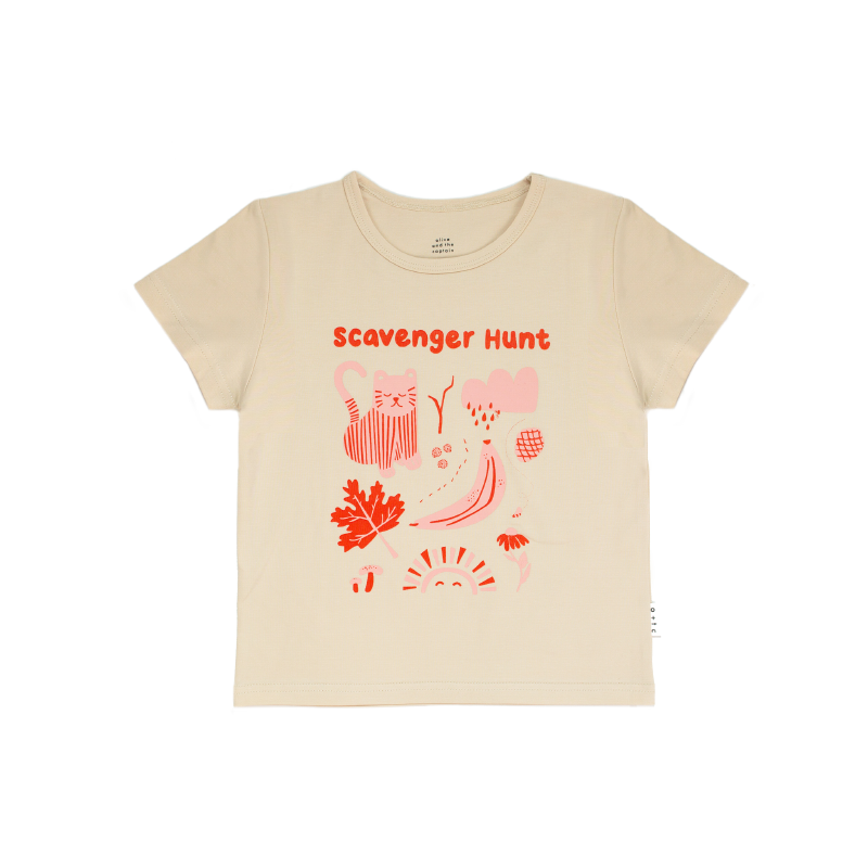 Olive + The Captain Scavenger Hunt Tee - Red