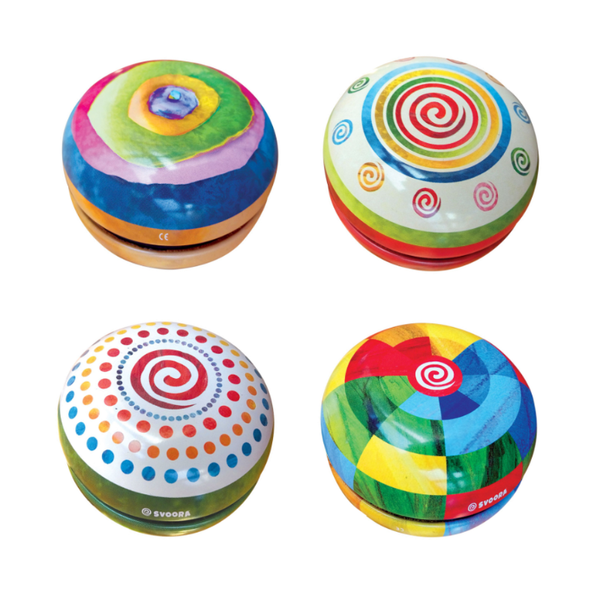 Tin Yo-Yo With Free Spin - Fantasy Assorted