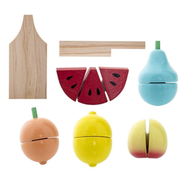 Bloomingville Play Set Fruit Wood set of 7