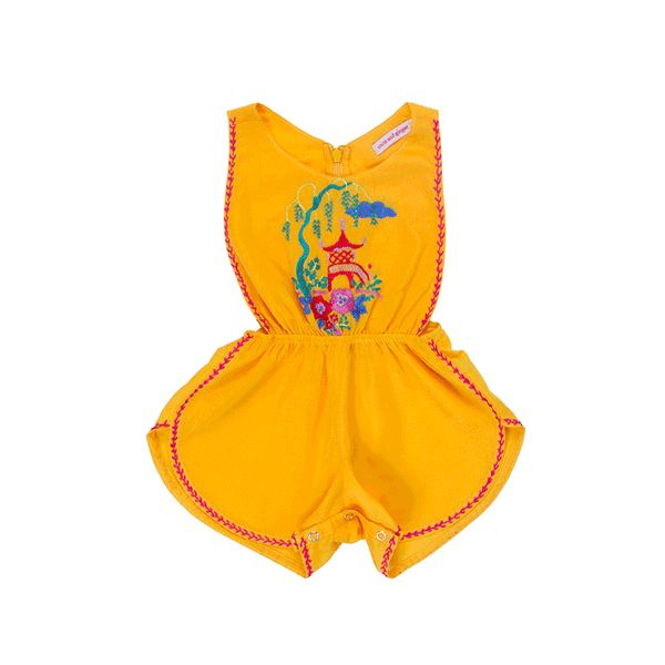 Coco & Ginger Poet Sunsuit - Saffron