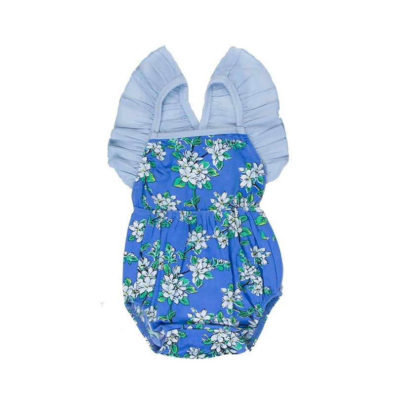 Camille Sunsuit - Periwinkle Blossom