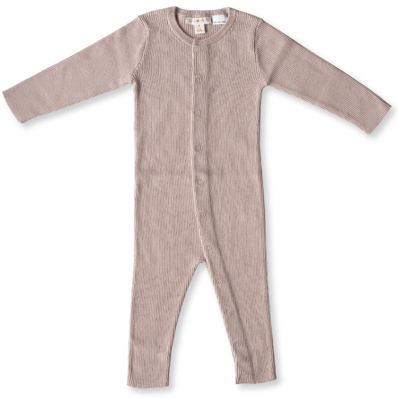 Grown Ribbed Essential Jumpsuit - Rose