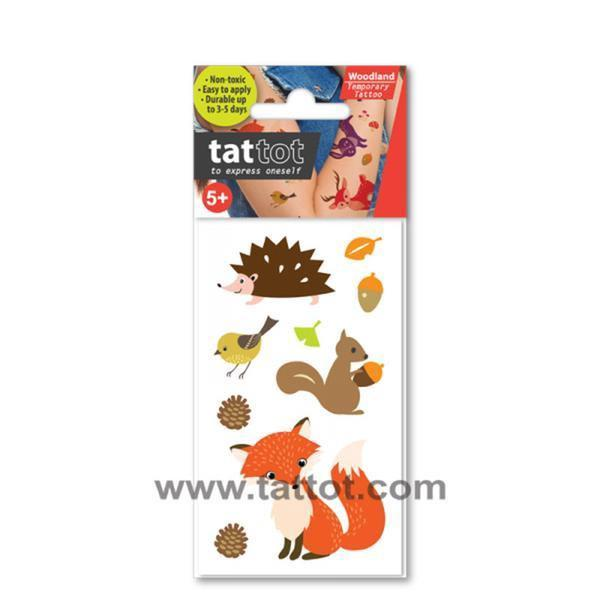 Tattot Tattoo -Brown Woodland