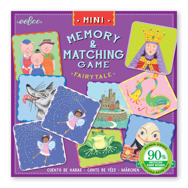 Eeboo Mini Matching Game - Fairytale