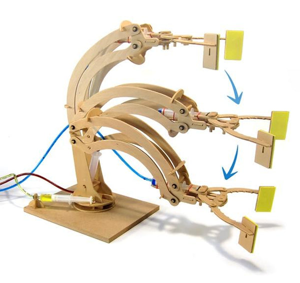 Hyraulic Robotic Arm Wooden Kit at shorties