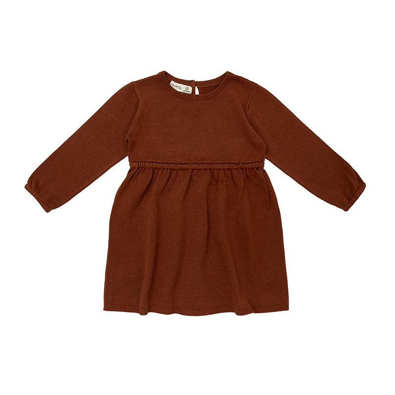 Miann And Co Knit Dress - Rust