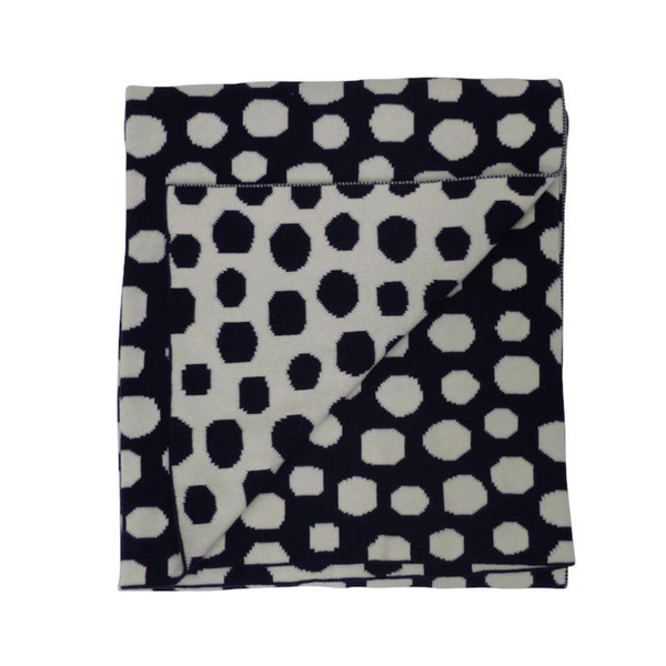 Emotion Kids Bassinet Blanket - Navy Spot