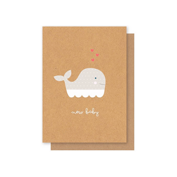 Elly Oak Card -New Baby Whale
